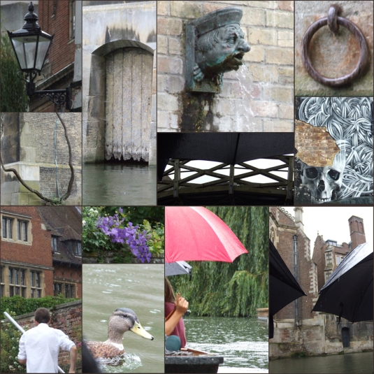 A rainy day punting in Cambridge