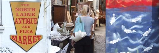 Antiques market in Brighton